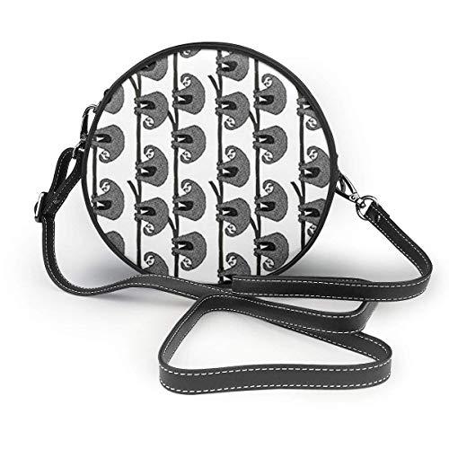 Umhängetaschen Crossbody Handtasche Multifunktions-PU-Leder für Shopping-Reisen Rund Spirale Dartscheibe Droste