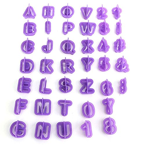 40 Pcs Icing Cutter Mold Alphabet Letter Fondant Cake DIY Decorating Mould Set Candy Molds