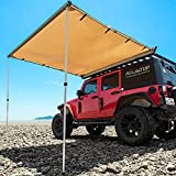 ALL-TOP Vehicle Awning 4.6'x6.6' Rooftop Pull-Out Retractable 4x4 Weather-Proof UV50+ Side Awning for Jeep/SUV/Truck/Van