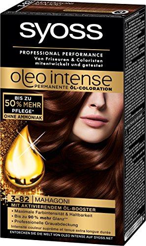 Syoss Oleo Intense Coloration 3-82 Mahagoni, 3er Pack (3 x 115 ml)