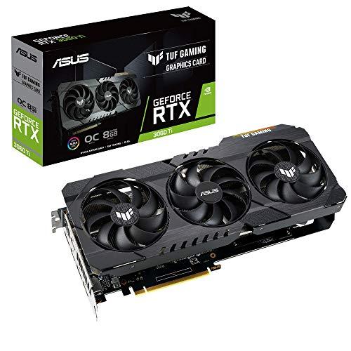 ASUS TUF Gaming GeForce RTX 3060 TI OC Edition Grafikkarte (Nvidia Ampere, DLSS, PCIe 4.0, 8GB DDR6 Speicher, 2x HDMI 2.1, DisplayPort 1.4, TUF-RTX3060TI-O8G-GAMING)
