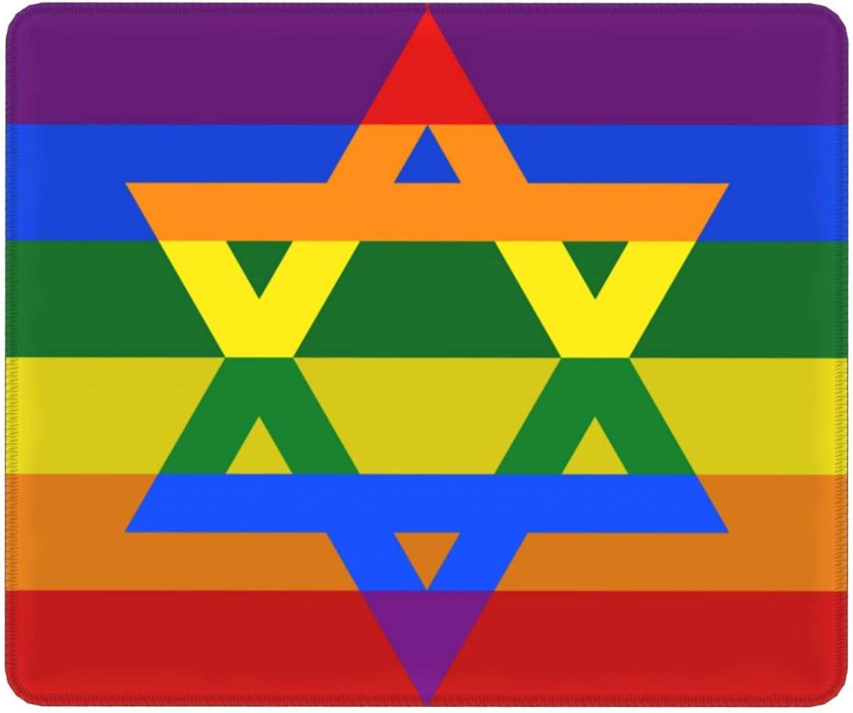 Israel Gay Men LGBT Mouse Pad Base Desk Access New Max 82% OFF color Non-Slip Rubber