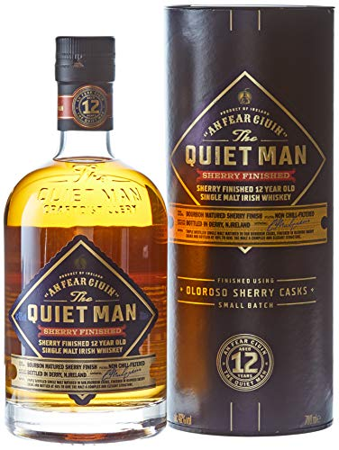 The Quiet Man An Fear Ciuin 12 Year Old Sherry Finished mit Geschenkverpackung Whisky (1 x 0.7 l)