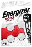 Energizer CR2032 Piles Bouton au Lithium, Lot de 4