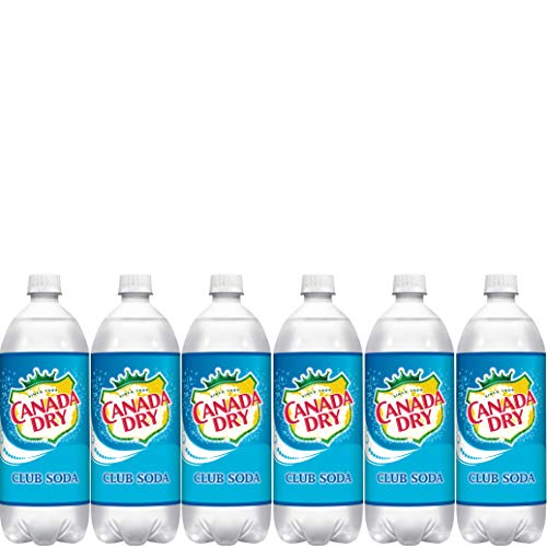 Canada Dry Club Soda, Sparkling Seltzer Water, 33.8oz Bottle (Pack of 6, Total of 202.8 FL Oz)