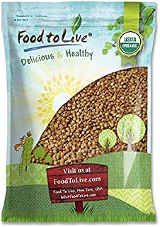 Organic Buckwheat Kasha (Grechka, Toasted Whole Groats, Non-GMO, Kosher, Bulk) by Food to Live — 5 Pounds