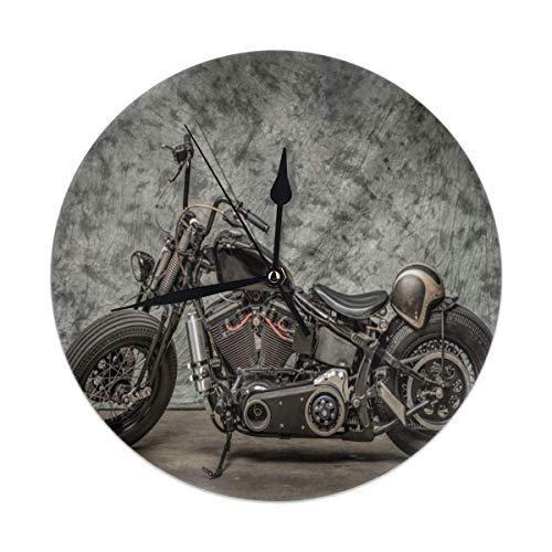 Mu You Ben Harley Davidson Orologi da Parete Rotondi da Moto Orologio da Parete Silenzioso Stampa 3D Modello Easy Toperate Be Appli Soggiorno