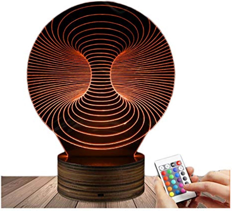 3D dekoratives Nachtlicht 3D LED Lampe Linie Kunst Art Illusion Nachtlicht Beleuchtung Schlafzimmer Home Decor Geburtstagsgeschenk Acryl und Holz Basis USB mit Fernbedienung angetrieben ndern Sie die