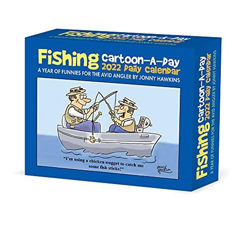 Fishing Cartoon-A-Day by Jonny Hawkins 2022 Box Daily Desktop Calendar