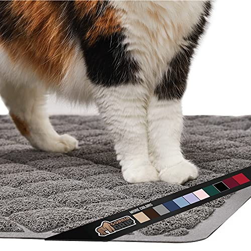 Gorilla Grip Original Premium Durable Cat Litter Mat, 35x23, XL Jumbo, Water Resistant, Traps Litter from Box and Cats, Scatter...