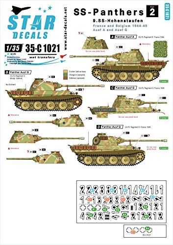 スターデカール 35-C1021 1/35 武装親衛隊のパンサー #2-第9SS装甲師団 ホーエンシュタウフェン, フランス・ベルギー パンサーA・G型