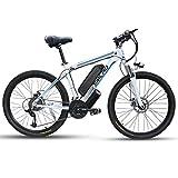 26 Zoll Elektrofahrräd Mountainbike mit 350W/500W/1000W Motor, City E-Bike für Erwachsene mit 48V13AH Abnehmbarer Lithium Akku, Elektrische Fahrräder für Männer Frauen(Mit Kotflügel und Heckrahmen)