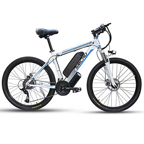 ZH 26 Zoll Elektrofahrräd Mountainbike mit 500W/1000W Motor, City E-Bike für Erwachsene mit 48V13AH Abnehmbarer Lithium Akku, Elektrische Fahrräder für Männer Frauen(Mit Kotflügel und Heckrahmen)