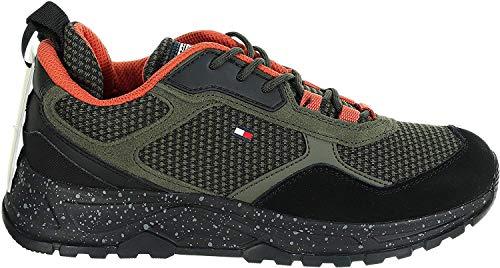 Tommy Hilfiger Fashion - Zapatillas deportivas para hombre, color azul y rojo Verde Size: 45 EU
