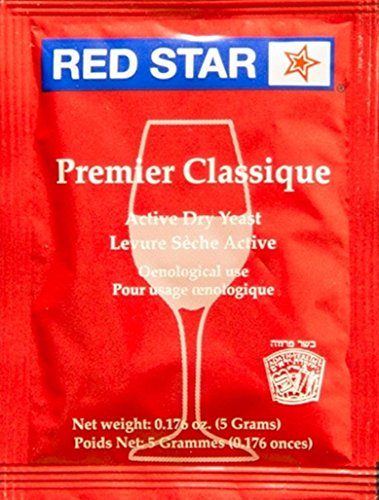 Red Star Premier Classique Wine Yeast, 5g - 10-Pack
