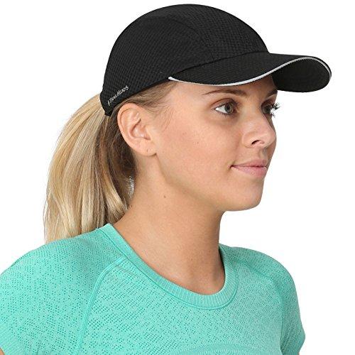 TrailHeads Race Day Performance Laufkappe – Kappe Damen – Leichte, Schnell Trocknende Damen Cap – Schirmmütze Damen - schwarz
