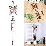 Lifreer - Campanilla de viento con 4 tubos de aluminio huecos, estilo clásico, para decoración de jardín interior y exterior, longitud de...