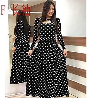 Elegant autumn Women's Dress 2020 Casual Bohemia Flower Print Maxi Dresses Fashion Hollow Out Tunic Dress Plus Size 5XL brand:TONWIN (Color : F long, Size : 5XL)