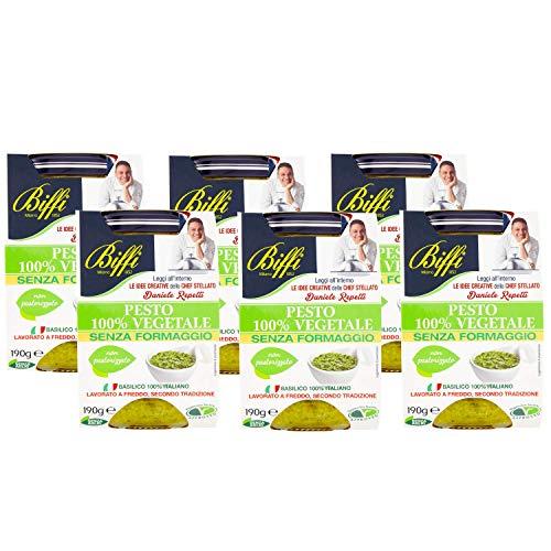Biffi Pesto 100% Vegetale, 6 x 190g