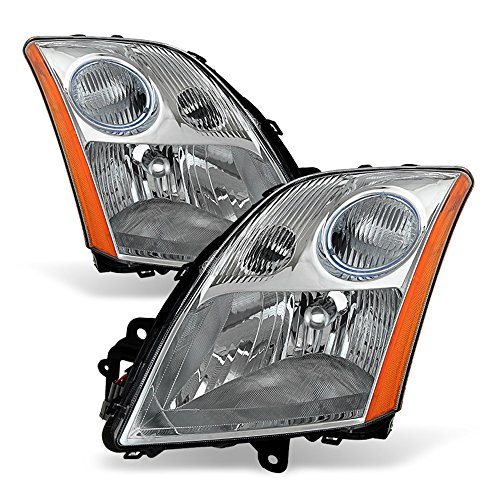 ACANII - For 2007 2008 2009 Nissan Sentra 2.0L 2.5L Headlights Headlamps Replacement Driver + Passenger Side