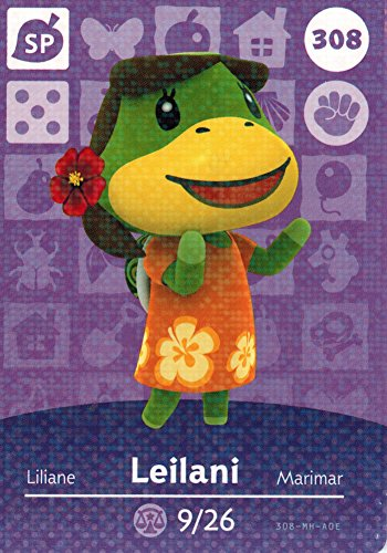 Nintendo Animal Crossing Happy Home Designer Amiibo Card Leilani 308/400 USA Version