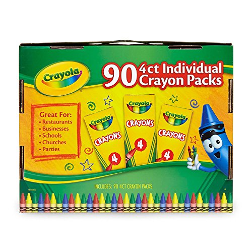 Crayola Crayons 90 - 4 Count Individual Packages