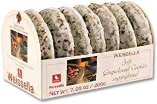 Weissella Soft Gingerbread Cookies Sugar-Glazed,7.05 oz