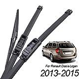XMSM Bras D'essuie-Glace Kit pour Dacia Renault Logan MCV MK2 2015 2014 2013 Avant Arrière Pare-Brise Essuie-Glace Blades 22' 20' 12' 3Pcs / Set