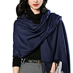 """Cashmere Feel Scarf Shawl: Blend of fine viscose and modal. It's soft, medium weight, and has a subtle sheen. Drapes nicely and stays wrinkle free Extra Long Large Scarves Size: 78"""" L x28"""" W; Whether you wrap it like a scarf or drape it like a shawl ..."""