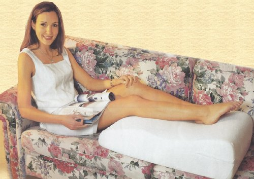 Venenkissen MEDIPROF Das Original Beinhochlagerungskissen Beinruhekissen Lagerungskissen Lymphdrainagekeil Relax Wellnesskissen 75x50cm aus Microfaser