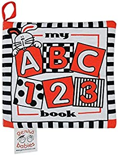 Baby's My First ABC Cloth Book - Black, White & Red Revised True Red for 2018