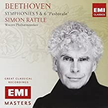 Beethoven: Symphonies Nos 5 & 6 by Sir Simon Rattle