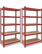 Deuba Estantería para cargas pesadas | 180 x 90 x 40 cm | 875 kg | 5 placas de MDF | estantería de almacenamiento, sótano, taller, etc.