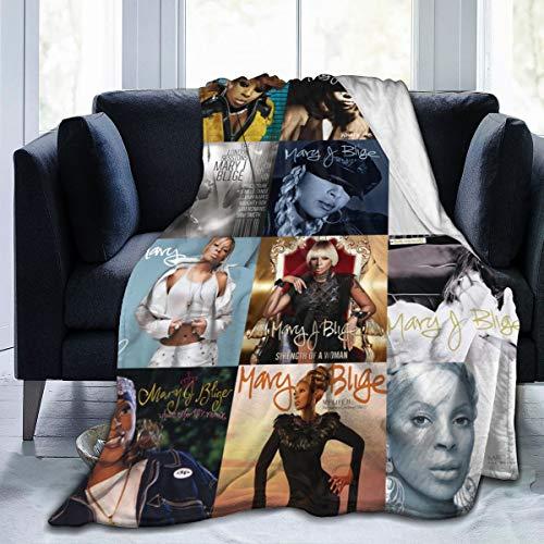 "DesireJCuevas Mary J Blige Flannel Fleece Blanket Super Soft Warm Cozy Lightweight Easy Care All Season Premium Bed Blanket Available in Three Sizes: 50"" X 40"",60""x50"",80""x60""inch"
