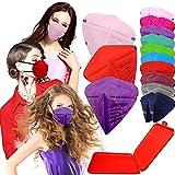 Xique - 20x Mascarilla Protectora FFP2 NR Adulto 5 capas Colores Variados + Mask Case color aleatorio
