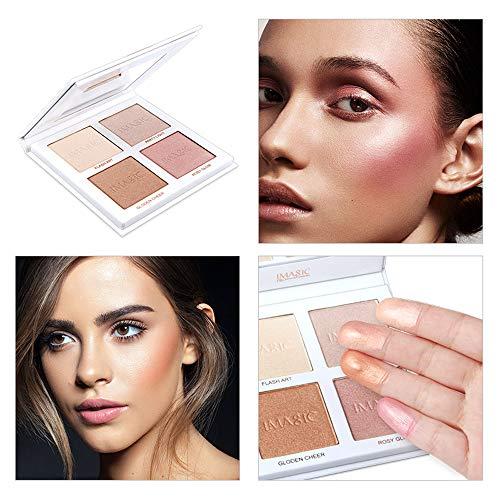 ❤️Vovotrade❤️❃❤️ 4 Couleurs 3D Poudre Teint Maquillage Anti-cernes Nouveaux Couleurs Contour Imperméable Make-Up Hydratant Naturel Léger Longue Réparation Maquillage 2019 ❃ Retour D'essai Gratuit
