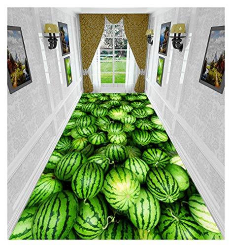 ditan XIAWU 3D-Eingangsteppich Zuhause Wohnzimmer Gang rutschfest Kann Geschnitten Werden (Color : Green, Size : 120x100cm)