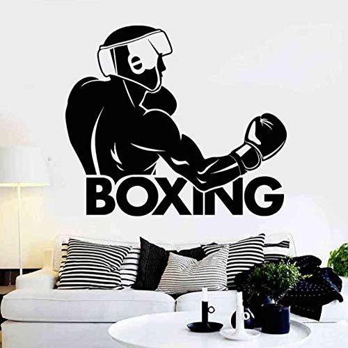 Wandaufkleber Wandbilder Abziehbilder Boxhandschuh Aufkleber Sport Boxer Aufkleber Poster Wandtattoos Wohnzimmer Schlafzimmer Poster Dekor 58X67cm