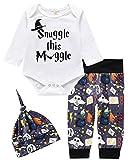 Conjunto de ropa para bebé, niña, 3 piezas, manga corta, camiseta y pantalones largos con sombrero en la parte trasera. D 6-9 Meses