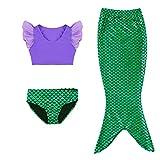Kleine Mädchen lila Sport Weste mit Fin Swimmable Meerjungfrau Schwanz