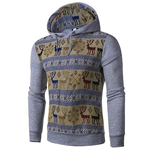 GODDOIT Hoodie Männer Sweatshirt Herren Retro Sweater Outwear Sweatjacke Parka Cardigan Lässige Mantel Kapuzenpulli Pulli Pullover Langarmshirts Jacke Hooded Top