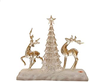 Defect Navidad Adornos candelabro Siete Ambiente Linterna tamaño Ligero Light Night 26 * 10.5 * 24