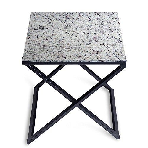 SLEEPLACE Couchtisch, Granit, Weiß/Schwarz