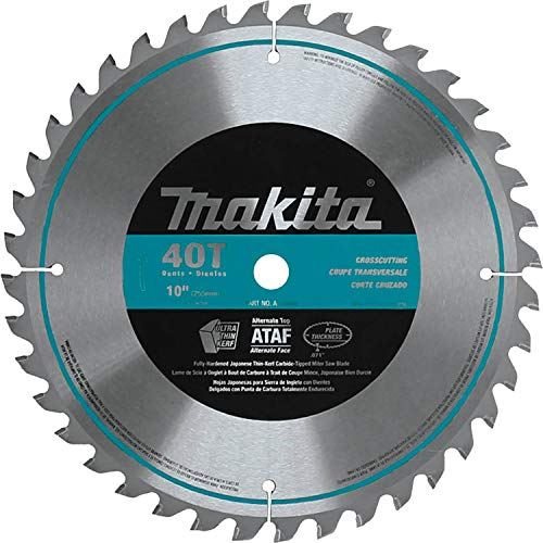 Makita A-93669 10-Inch 40 Tooth Micro Polished Mitersaw Blade, Silver