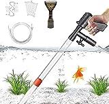 STARROAD-TIM Limpiador de Grava para acuarios, el último Cambiador de Agua de Acuario actualizado con botón de Aire, Utilizado para Limpieza de acuarios, Controlador de Flujo de Agua de Grava y Arena.