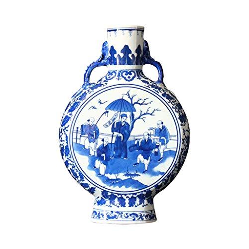 Maceta Florero de cerámica, Dinastías Ming y Qing, Dinastía Qing clásica, Botella Plana, Adornos...