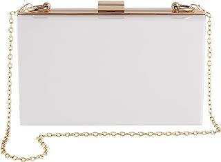 Women Cute Lucite Box Crossbody Evening Bag Purse Shoulder Clutch & Handbag