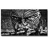 REDWPQ Wall Art Image Affiche Tous Les Noirs Nouvelle-Zélande Rugby Team Sticker Mural Décoration de la Maison Toile Art Affiche 45x60 Cm sans Cadre