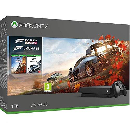 Microsoft Xbox One X, schwarz - Forza Horizon 4 und Forza Motorsport 7 Bundle