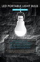 KK.BOL ソーラーランプ ポータブル LEDライト電球 ソーラーパネル 充電式ソーラーLEDライトランプ ホームライト用 インドア アウトドア 緊急ライト ハイキング テント キャンプ 夜間作業ライト S1500-6000